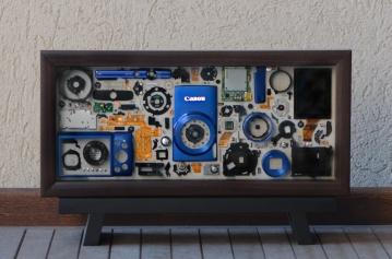 "Canon Powershot Canon Powershot Blue 6x14"" - $150"